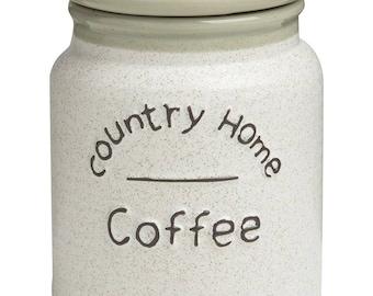 Airtight Coffee jar Country Home 10.5 X 10.5 x 14 cm