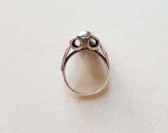 Vintage industrial silver ring, Scandinavia, 1980s (F972)