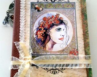 Junk Journal, Art Nouveau Journal, Writers Journal, Diary, Memories Journal, Scrapbooking