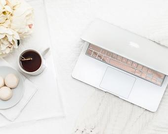 Rose Gold Chrome Keyboard Key . Keycal . Macbook Pro 13 Case . Macbook Air Case . Macbook Decal . Microsoft Surface - Platinum Edition -