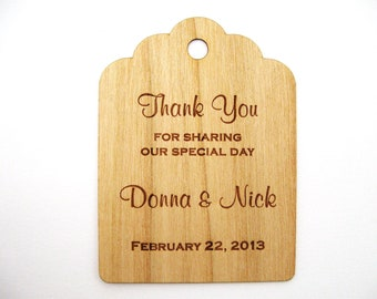 Gift Tags, Wooden Tags, Wedding Favor Tags, Thank you tags, Mason Jar Tag, Wood tags, Custom tags, Wood Personalize