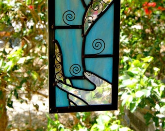 Stained Glass Air Element Ethereal Art Nature Art Abstract Art Earth Day Decorative Art Home Decor Wispy