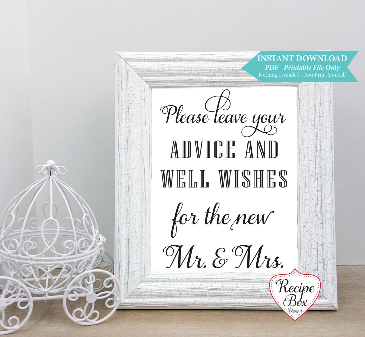 Wedding Advice Sign Wishes Sign Instant Download Printable Wedding Sign Wedding Wishes Printable Wedding Sign Template X