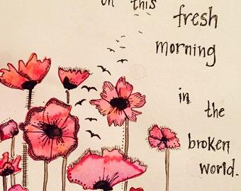 Fresh Morning Poppies Print