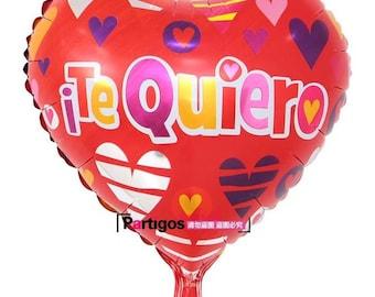 Te Quiero Spanish Espanol I Love you Mylar birthday Balloon Party Supplies Decoration Celebration 18 inch  TQ0517