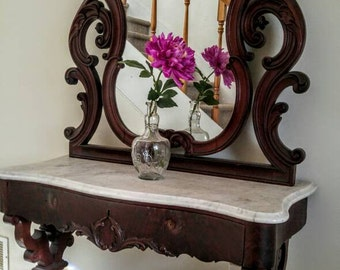 Impressive Marble Top Vanity /Dresser