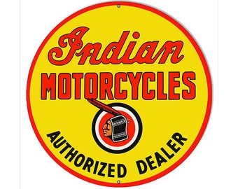 Reproduction Indian Motorcycle Signs