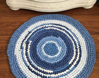 Hands Crocheted Rag Rug