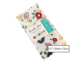 """JOLLY BAR - Fresh Air by American Jane for Moda Fabrics, Pattern #21670PP Jolly Bar, 42 Professionally Cut 5"""" X 10"""" Squares, Floral Patterns"""