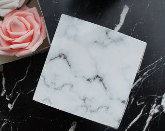 square 10pcs elegant marble design Paper Box as Cookie Container gift Packaging Wedding Christmas party Use
