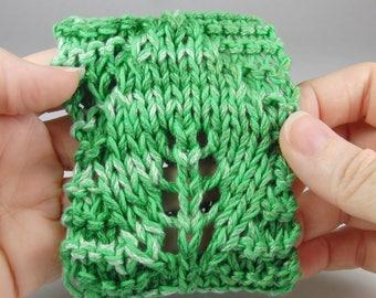 Knit leaf arm band/drink sleeve