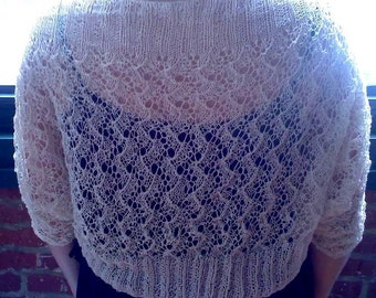Pdf HOARFROST LACE SHRUG  Knitting Pattern in 2 weights