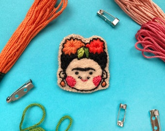 Frida Kahlo Embroidered Felt Brooch