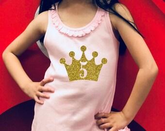 FIVE Birthday Girl Sunflower Dress   Birthday Dress  