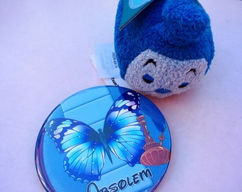 """Absolem (blue Catapillar) 3"""" button"""