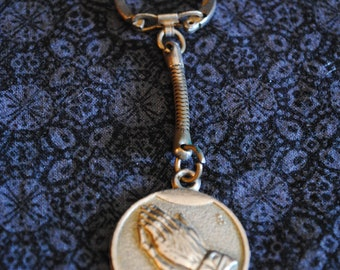 Peace Prayer of St. Francis key chain fob