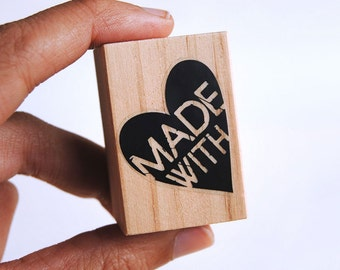 made with love tags, handmade labels little business, Made with love stamp, stamp for tags, made with the heart, made with love, stamp DIY