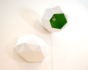 Ampolo - DIY - asymmetric, geometric lampshade for ceiling or wall - instant download papercraft