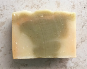 ginger lime soap | VEGAN soap | green soap | ginger soap | NATURAL soap | moisturizing soap | handmade soap | lime soap | cold process |