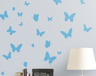 Butterflies Nursery Decor Butterfly Vinyl Wall Sticker, Butterflies Wall Decals Australian made