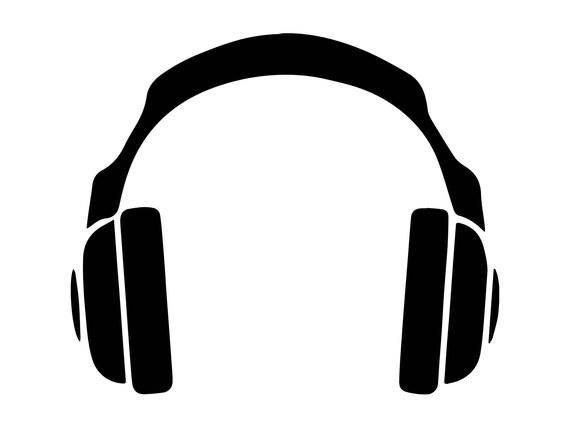 headphones music sound modern audio headset studio technology rh etsy com headphones vector logo headphones vector graphic