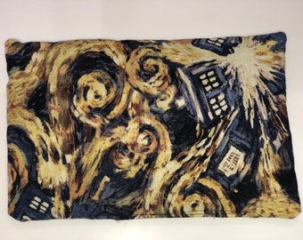 """Doctor Who """"Vincent and The Doctor"""" Starry Night Tardis catnip mat"""