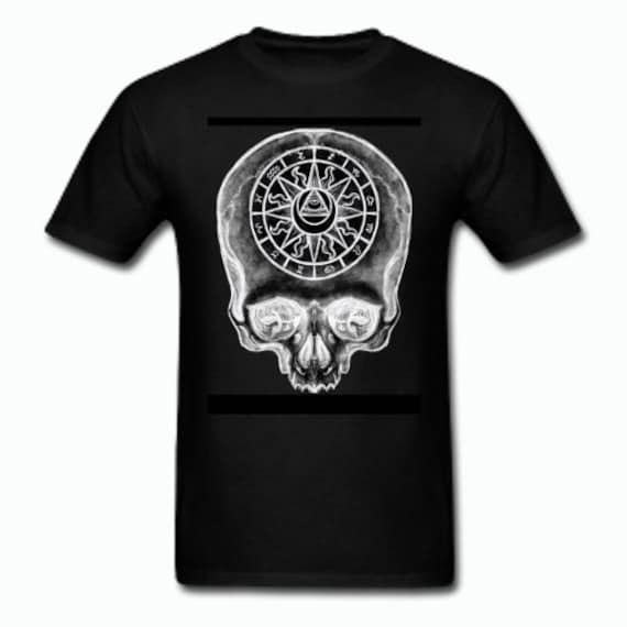 Astrological Skull Tee shirt