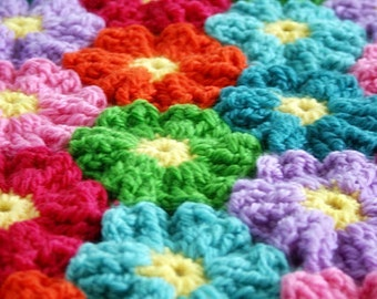 Crochet Pattern, Waikiki Wildflower, Blanket, Afghan, Baby, Throw