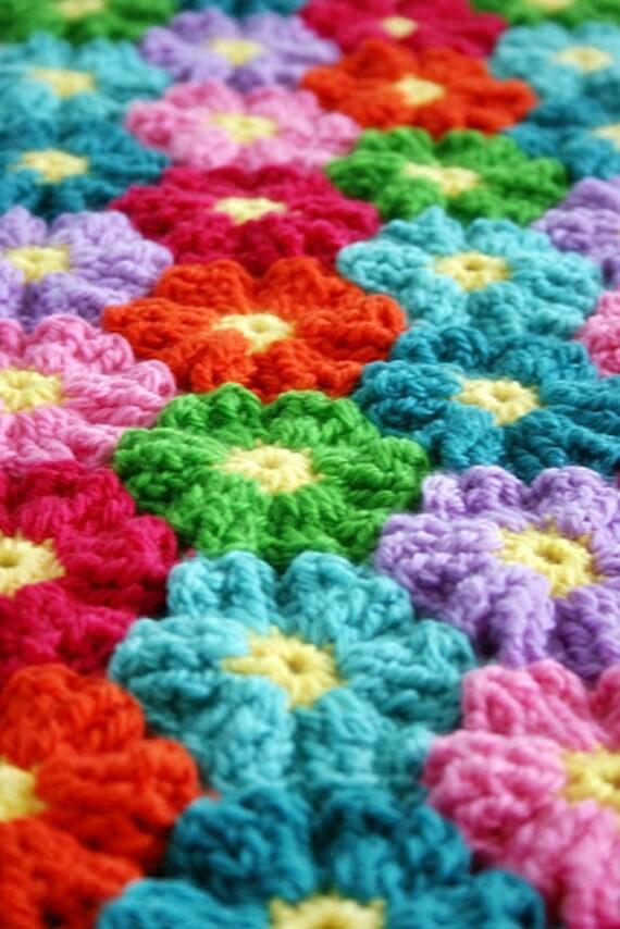 Blanket Crochet Pattern Waikiki Wildflower Colorful