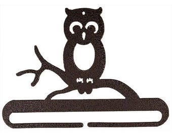 Owl on tree branch split bottom hanging craft holder in copper from Classic Motifs by Ackfeld