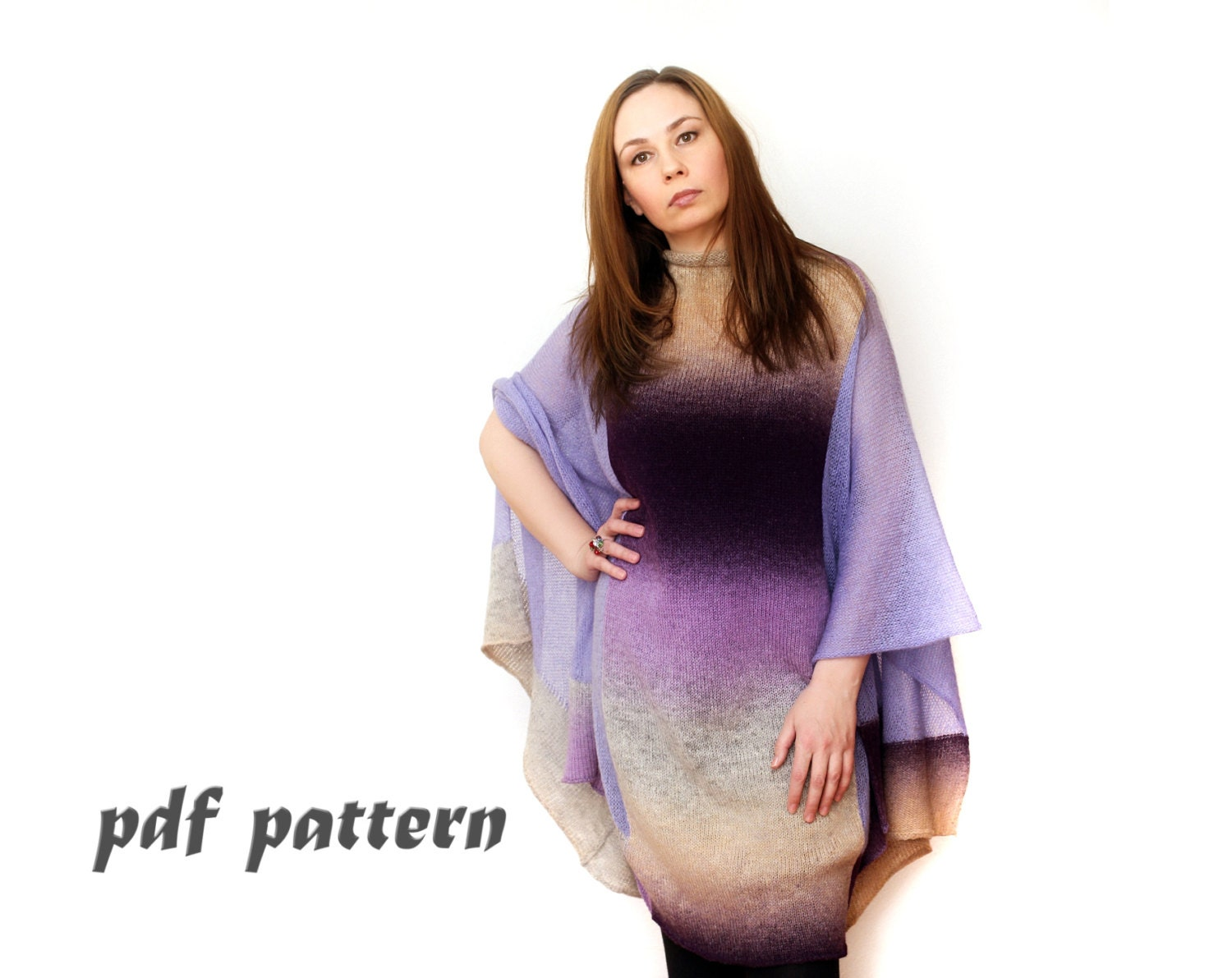Oversize knitting pattern plus size poncho pattern knitted zoom bankloansurffo Gallery