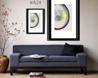 Tennis Photograph-Sports Wall Decor-Fine Art Print-Teen Room Wall Decor-Gifts for Him/Her-Athletic Wall Decor-Tennis Ball & Racquet Print