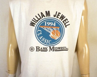 vtg 90s buttery soft thin Distressed 1994 William Jewell Basketball T-Shirt XL