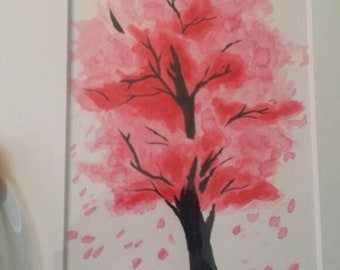 Cherry Blossom Tree ink painting