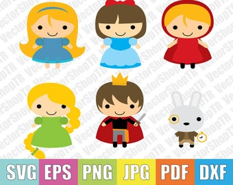 Book Characters 6pcs svg, eps, pdf,jpg,png