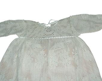 Crochet Christening Dress and Bonnet