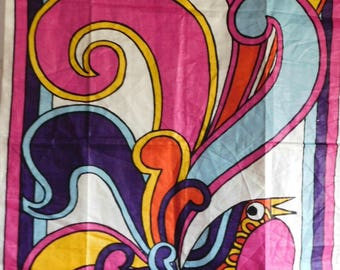 Vintage Kitchen Towel-Abstract Bird