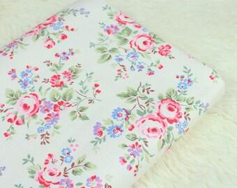 4721 - Cath Kidston Spray Flowers (Offwhite) Cotton Canvas Fabric - 57 Inch (Width) x 1/2 Yard (Length)