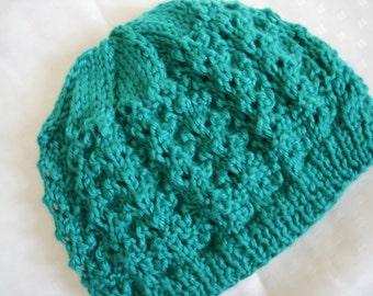 Teen Handknit Hat - Teal