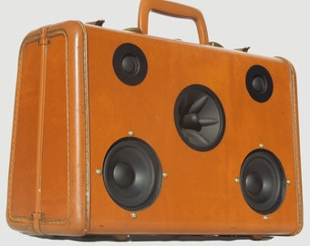 """SOLD Vintage 1950's Samsonite Portable MP3 Player Suitcase Boombox """"SLICK RICK"""" by Hi-Fi Luggage"""
