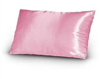 Silky Satin Fabric Pillow Cover - Pink (1 Pillow Cover)
