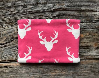 Baby Neck Warmer - *** DEER HEADS PINK ***