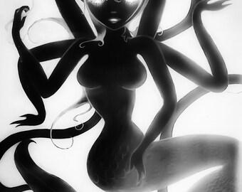 Dark Mermaid Print