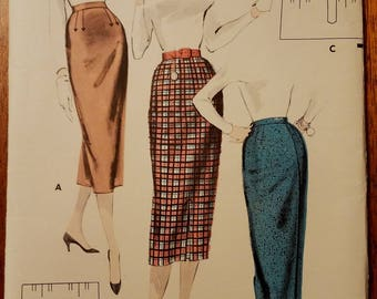 Butterick 7867 - Jr. Miss and Misses Quick and Easy Skirt Pattern - Ladies and Women's Vintage Skirt Pattern