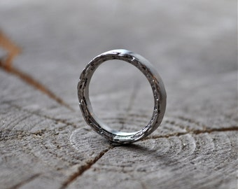 3mm Sterling Silver Rough Edge Band