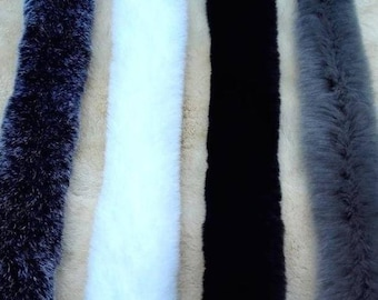 Black Fur Trim, White Fur Trim, Grey Fur Trim, Rabbit Fur Trim, Long Fur, Rabbit Fur stripe, Furry stripe, Large Fur Stripe
