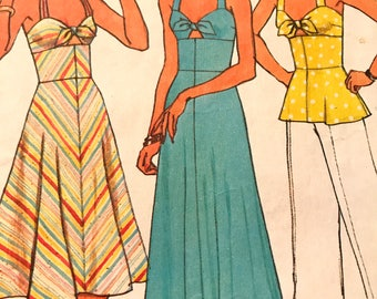 Halter Dress in Two Lengths or Top---Simplicity 7480---Size 12  Bust 34