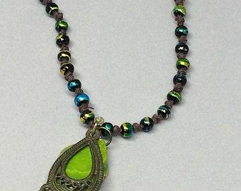 Handmade Jasper Necklace - Bohemian Jasper Necklace - Green Jasper Necklace - Bohemian Jewelry - Delicate Handmade Jewelry