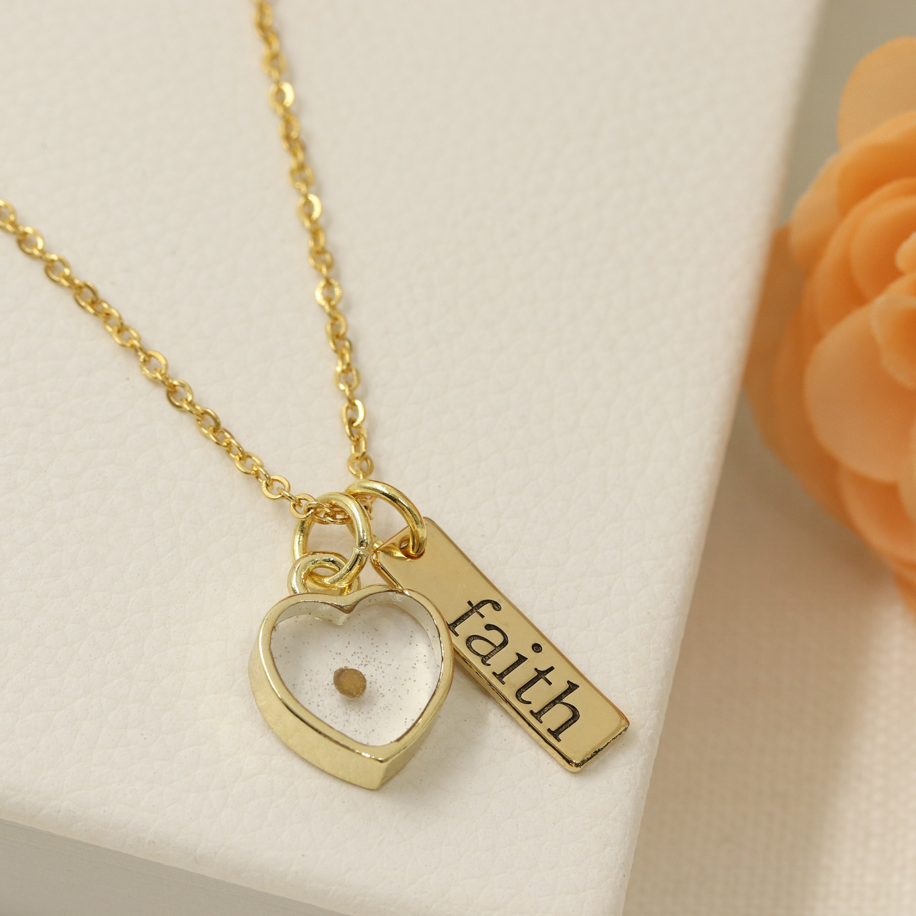 Mustard seed necklace faith necklace inspirational christian mustard seed necklace faith necklace inspirational christian gift faith as small as a mustard seed mustard seed jewelry aloadofball Image collections