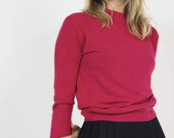 Fuchsia Fine Knit Jumper